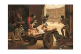 Galen Assisting a Gladiator, Wounded in the Circus of Bergamo Giclee Print by Josep or Jose Planella Coromina