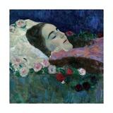 Ria Munk on Her Deathbed, c.1910 Giclee Print by Gustav Klimt
