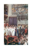 The Marriage of King Edward VII and Queen Alexandra in St. George's Chapel, Windsor, March 10Th,… Giclee Print by Charles Mills Sheldon
