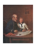 A Lesson in Navigation Giclee Print by  English School