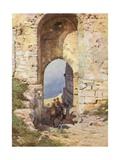Porta Spada, Monte San Giuliano Giclee Print by Alberto Pisa