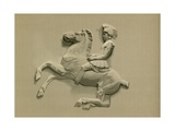 Fragment from the Parthenon Frieze Giclee Print by  Spanish School