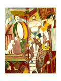 Circus Artists, 1911 Giclee Print by August Macke