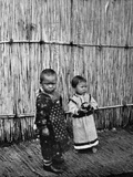 Ainu Children Betrothed Photographic Print by  English Photographer