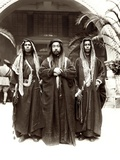 Sherif Abdullah (Centre) with Sheikh Jwayber El-Otaiby (Right) of the Otaibeh Tribe, 1921 Photographic Print by A. Reid