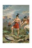 Mucius Scaevola Giclee Print by  Spanish School