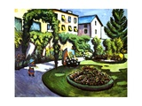 The Artist's Garden in Bonn, Germany, 1911 Giclee Print by Auguste Macke