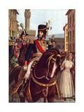Joachim Murat Entering Florence, 19 January 1801 Giclee Print by Tancredi Scarpelli