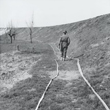 White Tape Marking Clear Tracks Through a Minefield, by the River Senio, Italy, March 1945 Photographic Print by  English Photographer