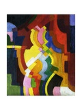 Coloured Forms III, 1913 Giclee Print by Auguste Macke
