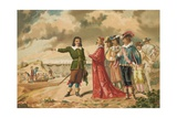 Gerard Desargues and Cardinal Richelieu at La Rochelle Giclee Print by J. Ventura