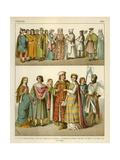 French Costume 1200 Giclee Print by Albert Kretschmer