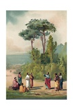 Plato and His Disciples in the Gardens of the Academia Reproduction procédé giclée par Ricardo Marti