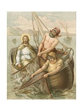 Jesus Fishing Giclee Print by John Lawson