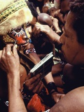 Highland Mother Painting Her Son's Face, Mount Hagen, Papua New Guinea, 1974 Photographic Print