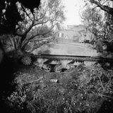 2Tp Tank Blown on Minefield, c.1944 Photographic Print by  English Photographer