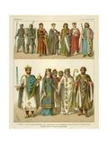 German Costume 1000-1100 AD Giclee Print by Albert Kretschmer