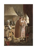 Helmont Receiving an Alchemist Who Presented Him with the Philosopher's Stone Giclee Print by J. Presno