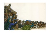 Racing at the Hippodrome 530 AD Giclee Print by Richard Hook