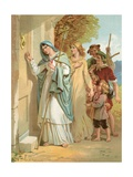 Christiana Knocks at the Interpreter's Door Giclee Print by Henry Courtney Selous