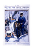 Britain's New Flying Services, 15th August 1914 Giclee Print by Christopher Clark