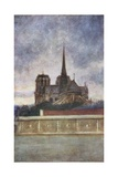 Notre Dame from the River Giclee Print by Mortimer Ludington Menpes