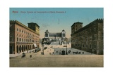 Piazza Venezia and Monument to King Victor Emmanuel II of Italy, Rome. Postcard Sent in 1913 Giclee Print by  Italian Photographer
