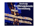 Poster Advertising the German Air War Booty Exhibition, 1918 Gicleetryck av Siegmund von Suchodolski