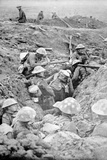 British Troops in Crude Roughly-Dug Trenches Await the Signal to Attack in the Third Battle of… Photographic Print by  English Photographer
