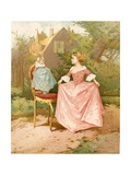 A Doll's Great Grandmother Giclee Print by Edward Percy Moran