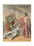 The Law, (Moses) the Sinner, and the Saviour Giclee Print by H. Castelli