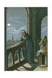 Roger Bacon in His Observatory in Oxford Giclee Print by Ramon Puiggari