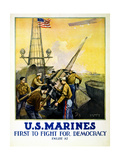 U.S. Marines, 1917 Giclee Print by L.a. Shafer