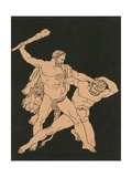 Hercules and Cacus Giclee Print by Bartolomeo Pinelli