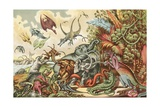 Prehistoric Animals and Reptiles Giclee Print by  North American