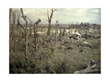 An Area Near the Castle with Buildings and Trees Damaged by Artillery Fire, Chaulnes, Somme,… Giclee Print by Fernand Cuville