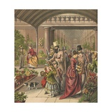 Flower Market Giclee Print by  English School