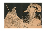 Aeneas and Tiber Giclee Print by Bartolomeo Pinelli