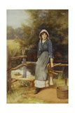 The Milkmaid, 1902 Giclee Print by Charles Edward Wilson