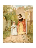 Sunday Morning a Hundred Years Ago Giclee Print by Edward Percy Moran