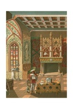 Salon of a Feudal Castle Giclee Print by  Spanish School