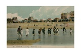 Cayeux, La Plage a Maree Basse. Postcard Sent 27 July 1913 Giclee Print by  French Photographer