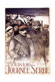 Serbian Day, 1916 Giclee Print by Théophile Alexandre Steinlen