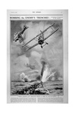 British Planes Bombing and Strafing German Trenches, 1918 Giclee Print by Joseph Simpson