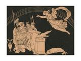 Iris Appearing to Turnus Giclee Print by Bartolomeo Pinelli