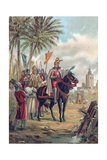 Jaime I of Aragon, the Conqueror, Outside Valencia Giclee Print by  Spanish School