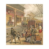Railway Station Giclee Print by  English School