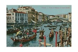 Grand Canal, Venice. Postcard Sent in 1913 Giclee Print by  Italian Photographer