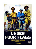 Poster Advertising the Film 'Under Four Flags', 1917 Giclee Print by Philip Martiny