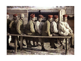 Group of Algerian Soldiers Following the Retreat of the German Army, Noyon, Oise, France, 1917 Giclee Print by Fernand Cuville